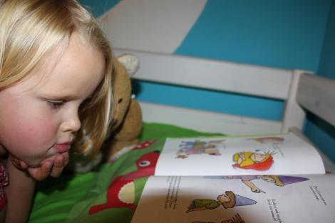 Rixt leest boek