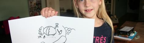 Pippa showt haar tekening