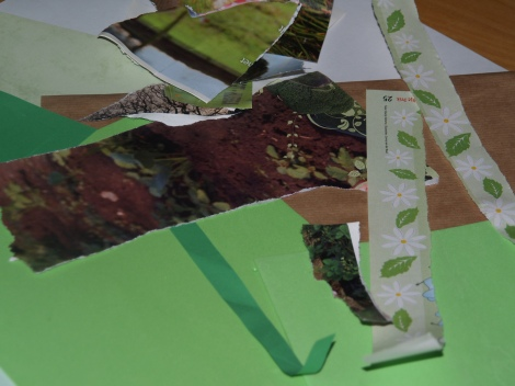 knutselpapier bos