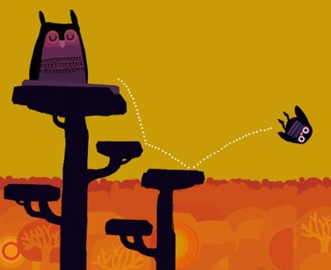 boink-illustratie uit Mama kwijt (Chris Haughton)