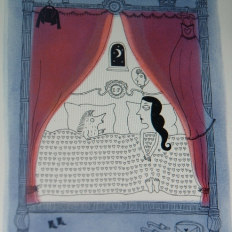 Detail uit illustratie van Wendy Panders (uit: De koning gaat verhuizen)