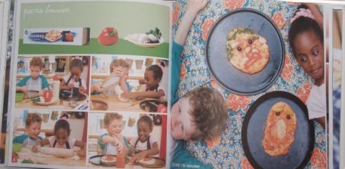 Pizza bouwen (uit Kijkkookboek)
