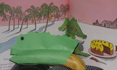 krokodil van prentenboek Ik zou wel een kindje lusten