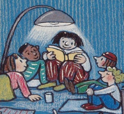 Leesfeest uit Midden in de nacht (Rotraut Susanne Berner)