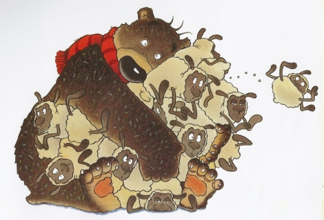 schapen knuffelen in Ik wil een knuffel (David Melling)