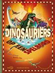 Dinosauriers op een spelbord