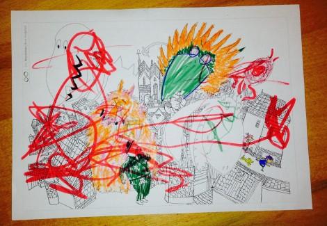 kleurplaat gemaakt met tim nav monsterboek